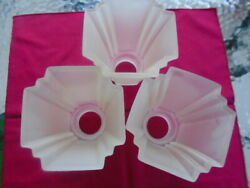 HAMPTON BAY CEILING FAN REPLACEMENT GLOBES SHADES FROSTED LINED SQUARE CUT $35.00
