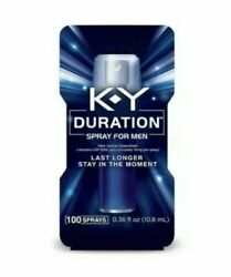 JUST IN!! KY Duration Spray for Men FREE GIFT 100 sprays .36 floz like stud100