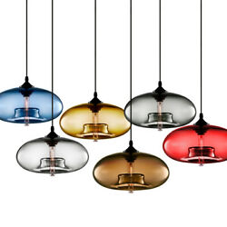 Modern Colored Glass Pendant Lamp Ceiling Light Chandelier Lighting Loft Fixture $38.99
