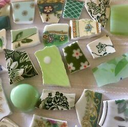 China Mosaic Tiles~LOT OF GREENS #2~MULTI PATTERNS~Build Your Stock Tile Set