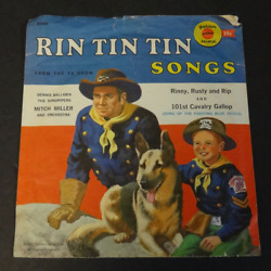 78rpm R349 RIN-TIN TIN SONGS 1957 Mitch Miller & Sandpipers wenvelope GOLDEN