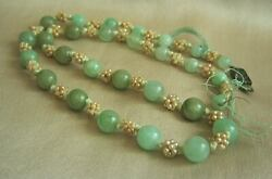 Fabulous Antique Chinese Jadeite Jade Seed Pearl Necklace ONE OF A KIND
