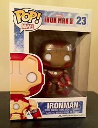 Funko Pop! Ironman (Mark 42) Vinyl Iron Man 3 Movie Vaulted #23 Marvel Rare