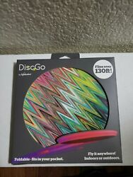 DiscGo Foldable Fits In Your Pocket Flies Over 130 Feet Frisbee Foldable NEW $12.90