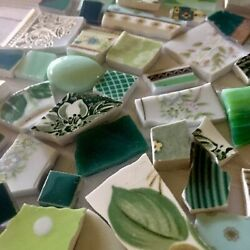 China Mosaic Tiles~LOT OF GREENS #3~MULTI PATTERNS~Build Your Stock Tile Set