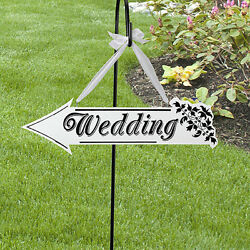 Wooden White Wedding Direction Arrow Sign Wedding Ceremony Reception Decor RKFS