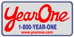 Year One Aluminum Novelty Car License Plate $17.90