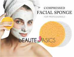 Facial Sponges - Compressed Cellulose Face Cleansing Spa Sponge - MADE IN USA