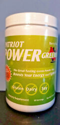 Patriot Power Greens Berry Flavor 11.43 oz - New  Sealed! 60 Servings