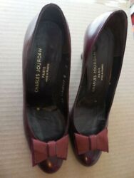 Charles Jourdan all leather pumps 7 B made in France.