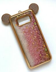 For Samsung Galaxy S8 Plus Glitter Water Liquid Ear Design Quicksand Gold $4.99