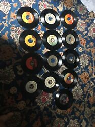 """Classic Rock Pop Lot 7"""" Vinyl 45 RPM in Fine Condition Playable and Enjoyable"""