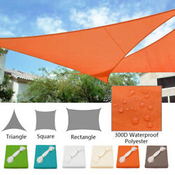 Waterproof Sun Shade Sail Patio Pool Top Cover Canopy 300D UV Outdoor Awnings $23.90