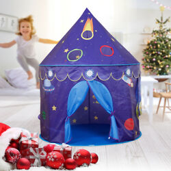 Castle Playhouse Space Theme Foldable Little Prince Princess Tent Game House US