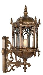 31quot; Large Exterior Lantern Wall Sconce Weather Resistant Outdoor Porch Lighting