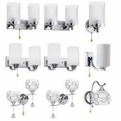 Modern Glass Wall Light Bulb LED Crystal Bedroom Sconce Lighting Lamp Fixture $19.98