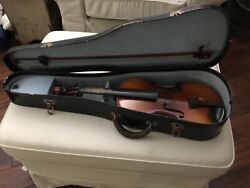 ANTIQUEVINTAGE 44 VIOLIN WITH BOW AND CASE MAKER UNKNOWN