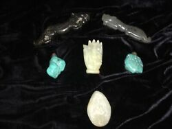 CHINESE 6 PIECE LOT- with JADE & MORE-CHECK OUT ALL OF OUR LOTS!