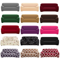 1 2 3 4 Seat Stretch Spandex Chair Sofa Couch Cover Elastic Slipcover Protector $25.99