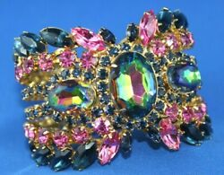 GORGEOUS DIMARTINO ORIGINAL RHINESTONE HINGED BRACELET RUNWAY PIECE
