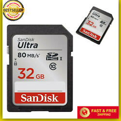 SanDisk Ultra  32GB SD Card Class10 80MBs Memory Card Quick transfer speeds