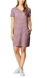 32 DEGREES Women#x27;s Short Sleeve Dress Pink Small with details $8.99