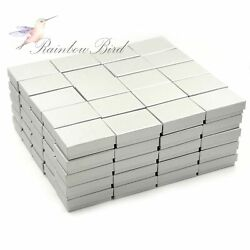 Lot of 6 ~ 100 Earring Ring Necklace Cardboard Jewelry Gift Boxes 3 14*2 14*1