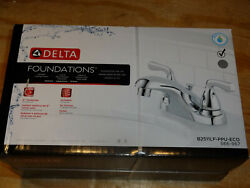 Delta Foundations 4 in. Centerset 2-Handle Bathroom Faucet in Chrome TC New Box