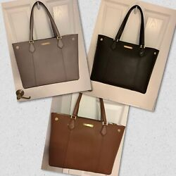 Michael Kors Cori Large Snap Leather TZ Tote & Pouch NWT $348 Various Colors