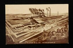 1900s Birdseye The American Rolling Mill Co. Artist Sketch Middletown OH Butler