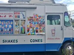 Diesel Chevy Mobile Ice Cream Business  Soft Serve Truck in Great Condition for
