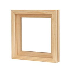 Vinyl Record Frame Solid Wood with Clear Acrylic Changeover Natural Singles New