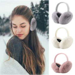 Women's Big Earmuffs Winter Warmer Thicken Plush Fluffy Ear Muffs Solid Earlap