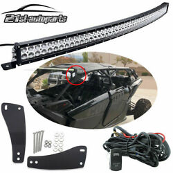 Upper Roof 50'' Curved LED Light Bar Mount Kit For Can-am Maverick DS RS MAX X3 $130.99