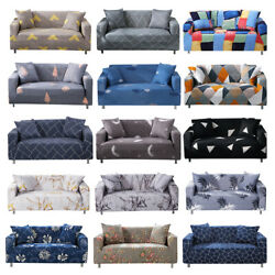 Printed Slipcover Sofa Covers Spandex Stretch Couch Cover Furniture Protector $24.98