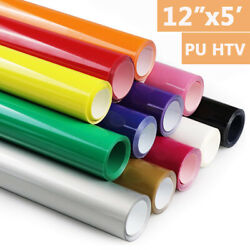 12quot;x5#x27;ft HTV Heat Transfer Vinyl Roll PU Lettering Film Iron On T shirt Textile $9.98