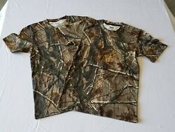 2 Russell Outdoors Realtree AP Camo Short Sleeve T Shirt Sizes S M L XL 3XL $19.99