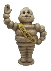 Michelin Man Bank 8quot; Heavy Cast Iron With Painted Antique Finish $39.99