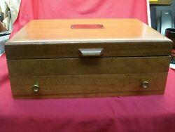 PACIFIC SILVER CLOTH WOODEN SILVER (FLATWARE) CHEST - EXCELLENT CONDITION