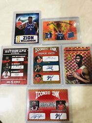 🔥LOT OF 6 ZION WILLIAMSON Rookie Autograph Facs Cards DukePelicans🏀