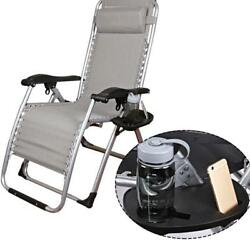 Chair Side Tray Cup Holder for Zero Gravity Garden Patio Fishing Beach Chair
