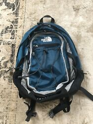 THE NORTH FACE ISABELLA WOMEN'S BACKPACK BLACK GRAY TEAL GREEN BARELY USED