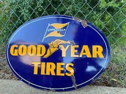 1940's GOODYEAR TIRES PORCELAIN SIGN...No reserve