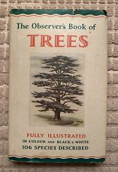 THE OBSERVER'S BOOK OF TREES ILLUSTRATED COLOR BLACK WHITE 106 SPECIES JACKET