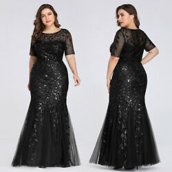 Ever-Pretty US Plus Size Long Bodycon Bridesmaid Dresses Evening Party Prom Gown $40.04