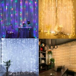 300 LED Curtain String Light USB Powered LED Lights Christmas Decoration Party