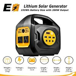 S200 Portable Power Station For Camping and Emergency Uses (SolarCarWall) $161.49