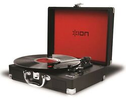ION Audio Vinyl Motion  Portable 3-Speed Belt-Drive Suitcase Turntable with ...
