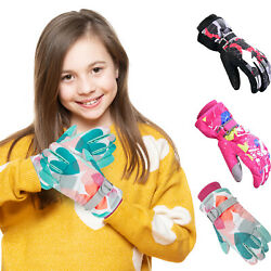 Kids Winter Gloves Touch screen Sports Bike Snow Ski Waterproof Gloves Boys Girl $13.95