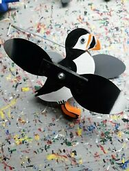 Puffin Mini Whirligigs Whirligig Windmill Yard Art Hand made